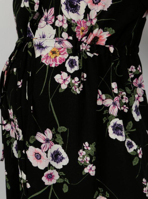 Čierna kvetovaná tehotenská tunika Dorothy Perkins Maternity
