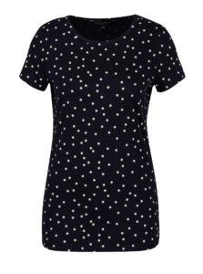 Tmavomodré bodkované tričko Dorothy Perkins