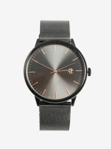 Tmavosivé metalické unisex hodinky CHPO Nando
