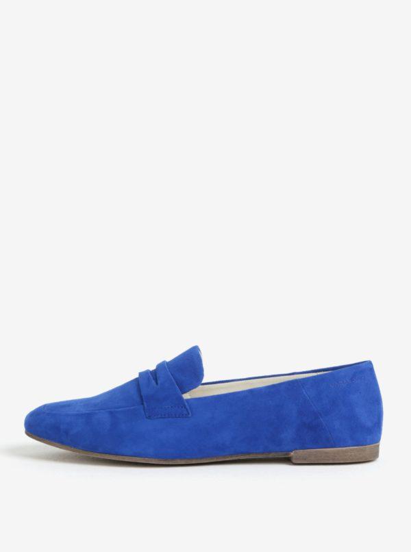 Modré semišové mokasíny Vagabond Ayden