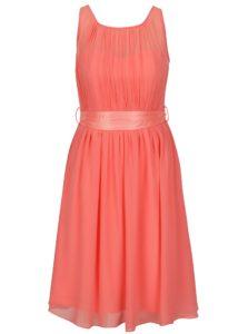 Ružové šaty so stuhou v páse Dorothy Perkins