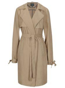 Béžový tenký kabát s opaskom Dorothy Perkins Tall