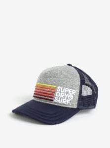 Modrá pánska šiltovka s výšivkou Superdry Cali