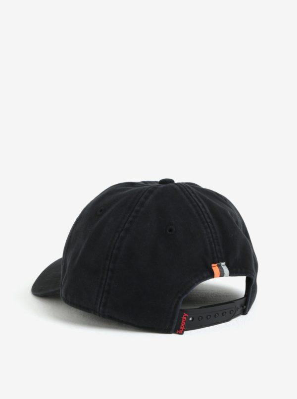 Čierna pánska šiltovka s výšivkou Superdry Orange Label