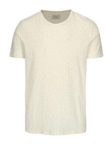 Krémové tričko s jemným vzorom Selected Homme Kris