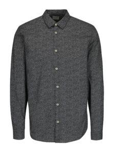 Bielo-čierna vzorovaná slim fit košeľa Selected Homme One Mini