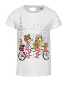 Biele dievčenské tričko s potlačou BÓBOLI