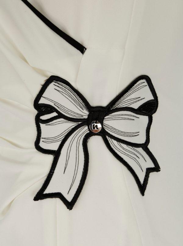 Krémové puzdrové šaty NISSA