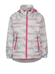 Ružovo–sivá dievčenská vzorovaná vodovzdorná bunda s kapucňou Reima