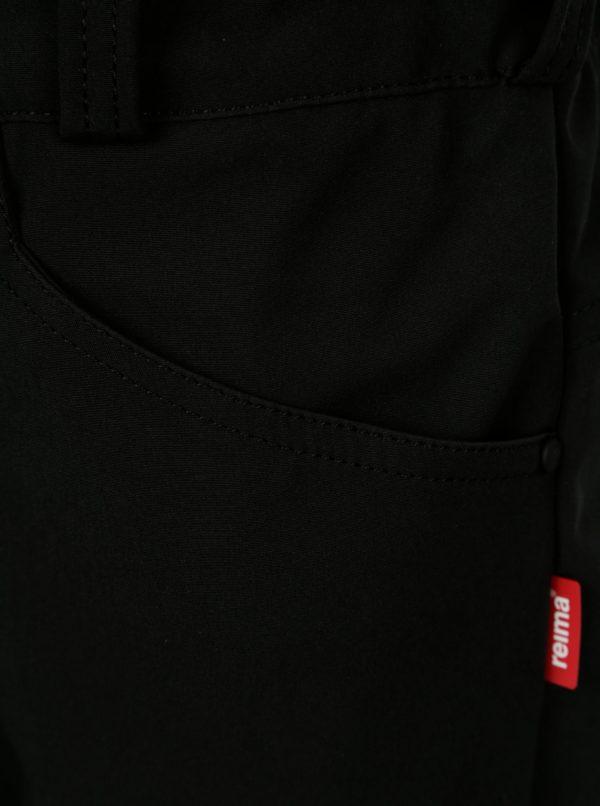 Čierne detské softshellové vodovzdorné nohavice Reima Agern