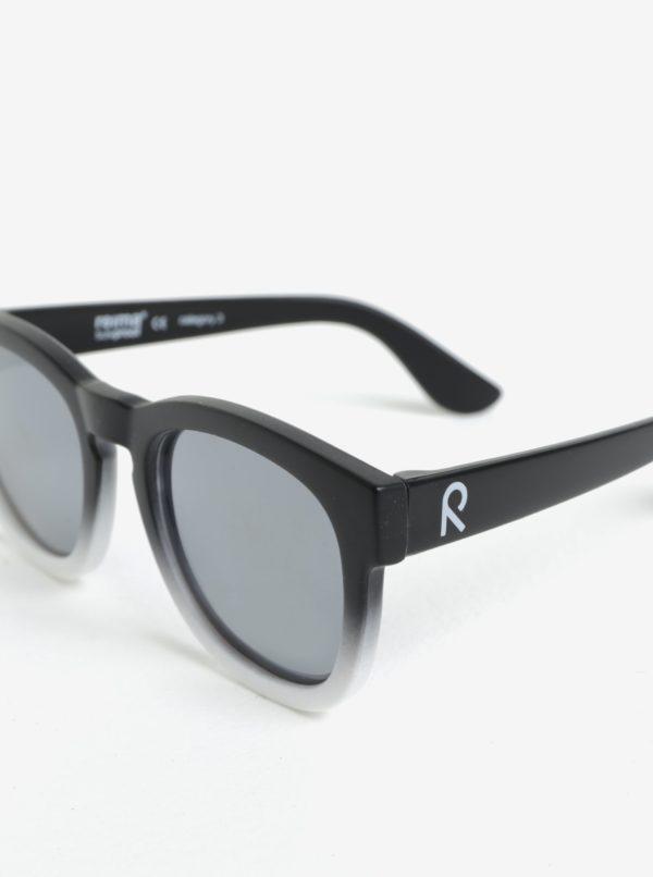 Bielo-čierne detské slnečné okuliare Reima Hamina