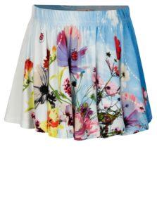 Krémovo-modrá dievčenská sukňa s potlačou BÓBOLI