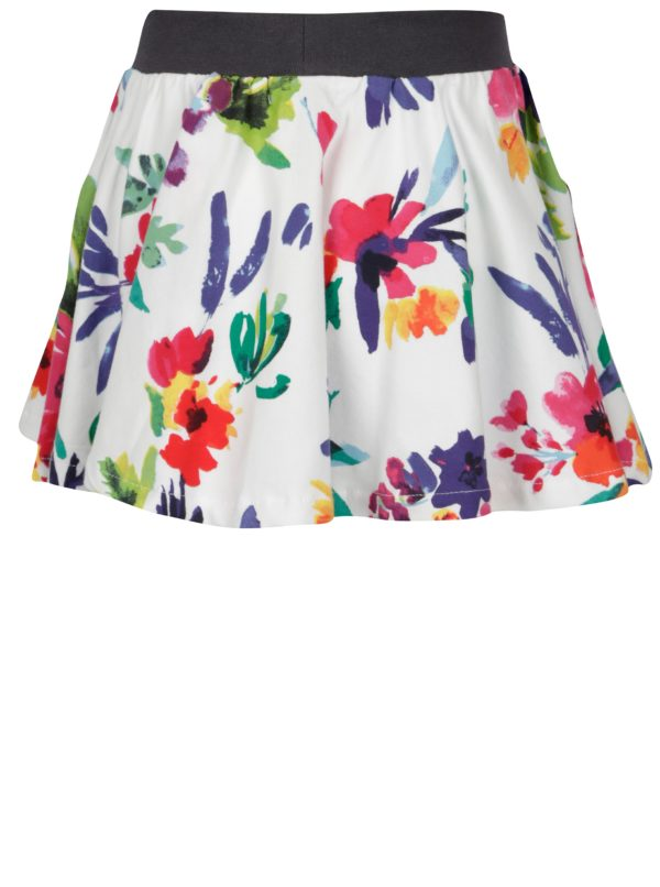 Biela dievčenská kvetovaná sukňa BÓBOLI