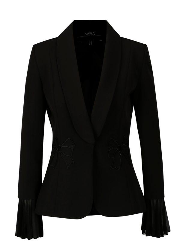 Čierne sako s nášivkami NISSA