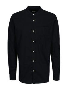 Tmavomodrá slim fit košeľa Jack & Jones Kevin