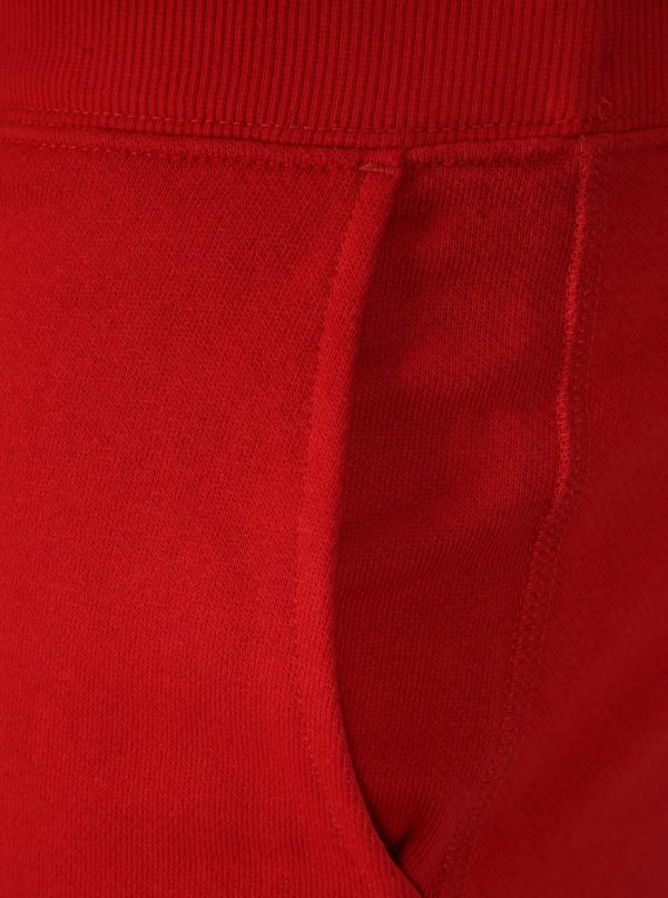 Červené teplákové kraťasy Jack & Jones Colour