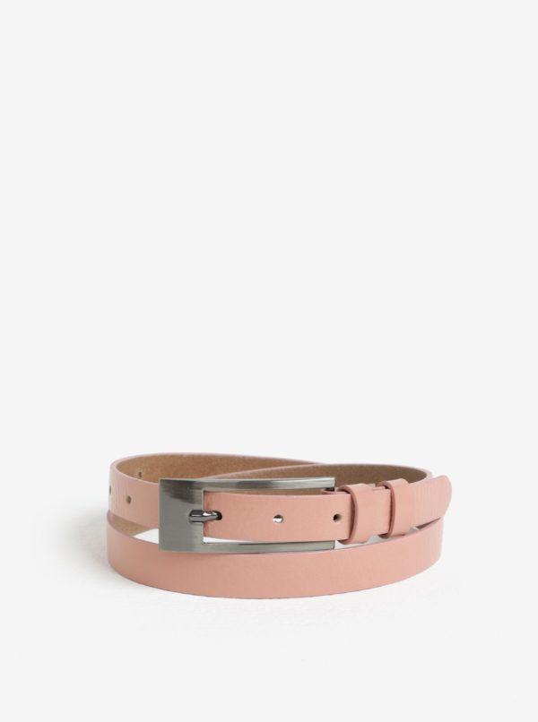 Ružový dámsky kožený opasok KARA