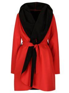Čierno-červený vodovzdorný kabát Design by Lucie Jack