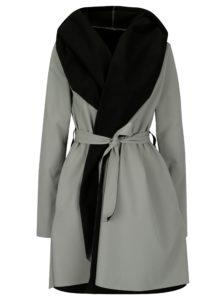Čierno-sivý vodovzdorný kabát Design by Lucie Jack Grey