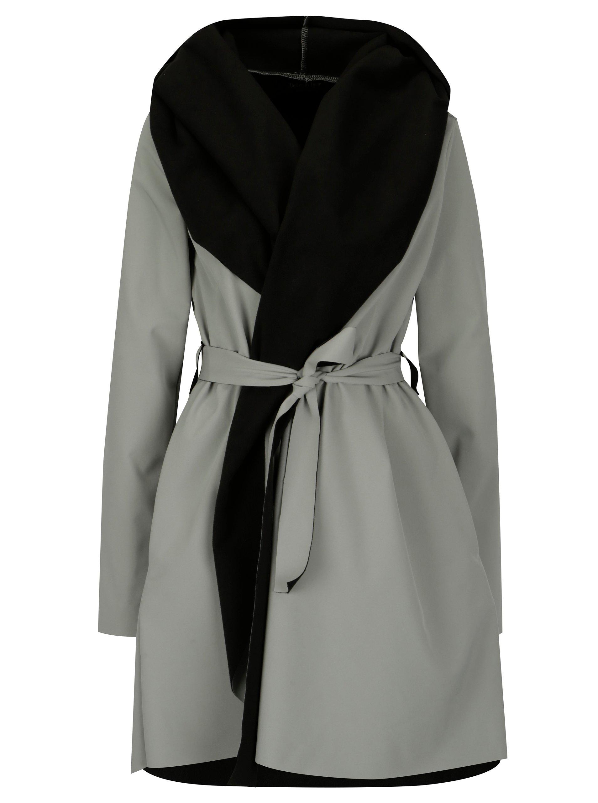 e574e2f8f Čierno-sivý vodovzdorný kabát Design by Lucie Jack Grey | Moda.sk