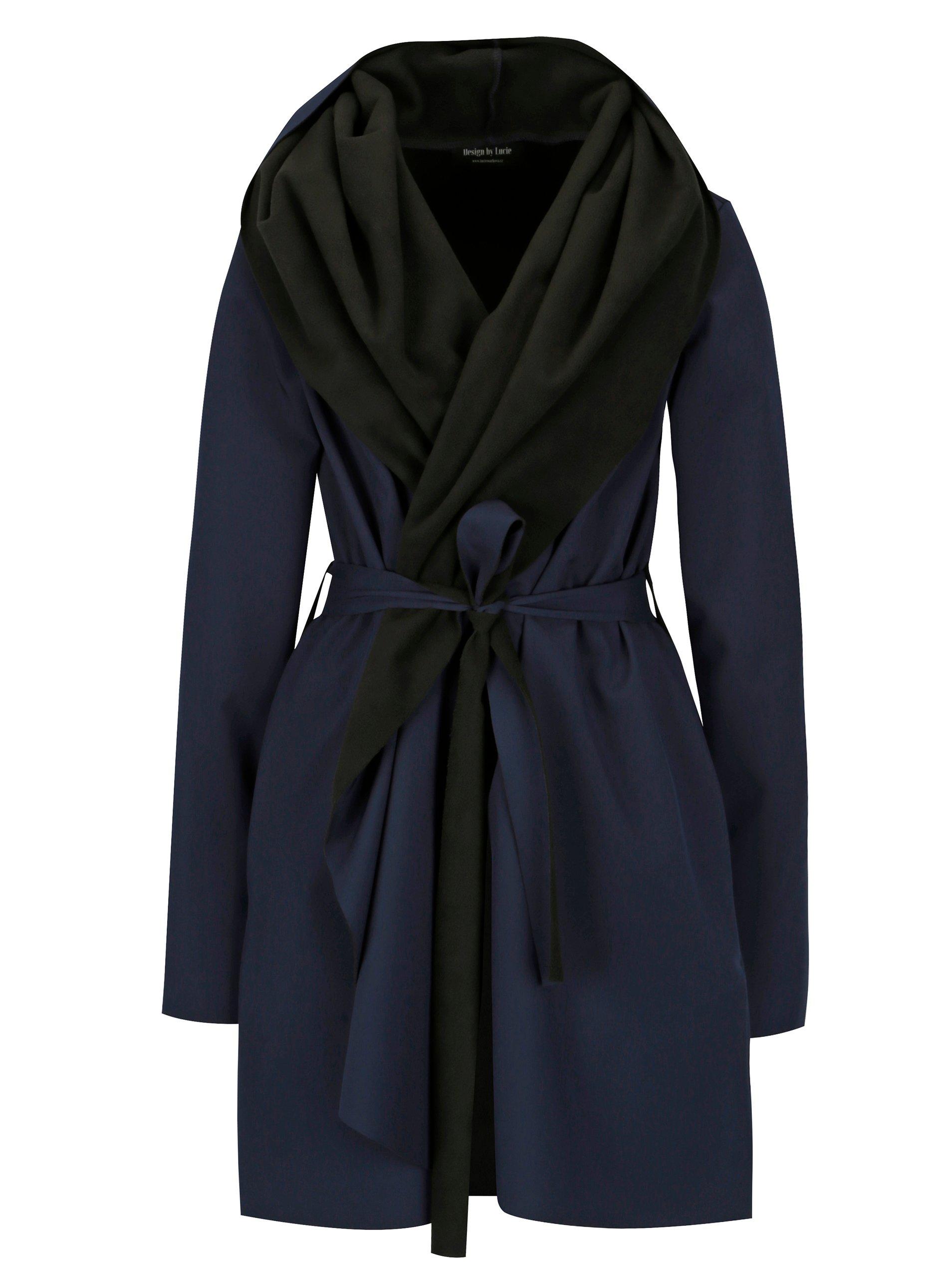 5d98316b39 Čierno-modrý vodovzdorný kabát Design by Lucie Jack Dark Blue