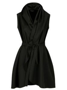 Čierne šaty so zavinovacím efektom Design by Lucie Jack