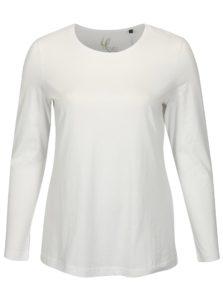 Biele tričko s dlhým rukávom Ulla Popken
