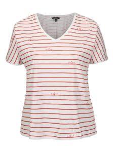 Červeno-biele pruhované tričko Ulla Popken
