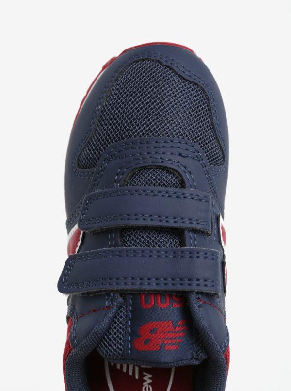 Červeno-modré detské tenisky New Balance