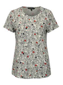 Modro-biele vzorované tričko Ulla Popken