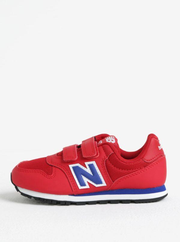 Červené detské tenisky na suchý zips New Balance
