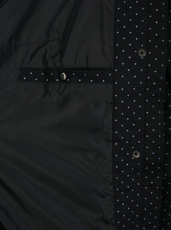 Tmavomodrá bodkovaná bunda Ulla Popken