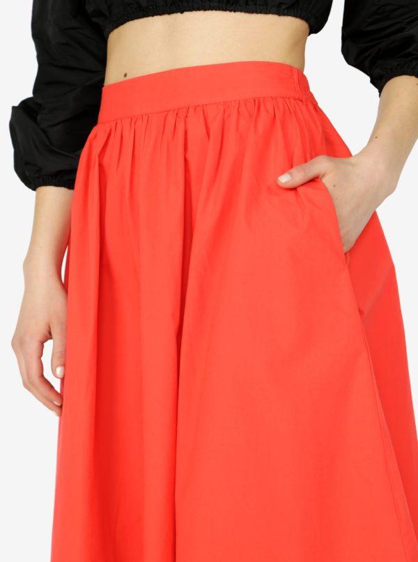 Červená sukňa VERO MODA Ladina
