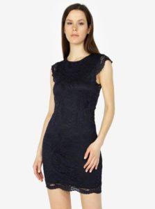 Tmavomodré čipkované šaty VERO MODA Sandra
