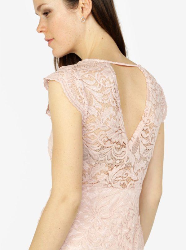 Staroružové čipkované šaty VERO MODA Sandra