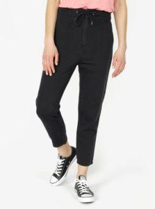Tmavosivé skrátené nohavice s vysokým pásom VERO MODA Indy