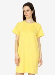 Žlté mikinové šaty VERO MODA Blaire