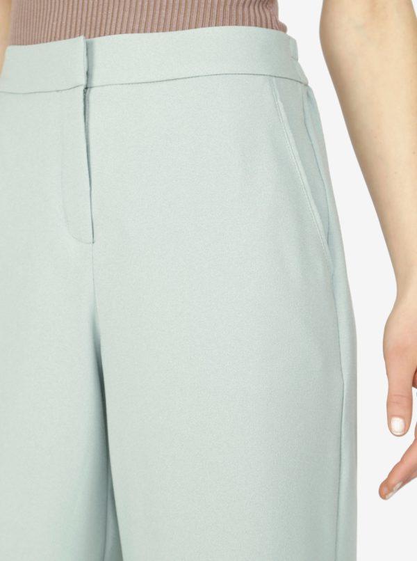 Svetlozelené culottes s vysokým pásom VERO MODA Isabel