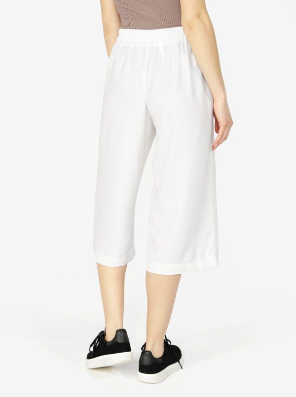 Krémové culottes s vysokým pásom VERO MODA Isabel