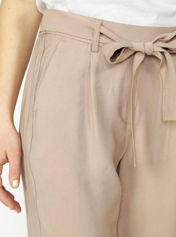 Béžové nohavice VERO MODA Elke