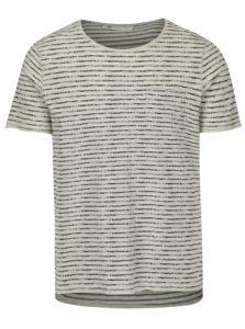 Čierno-béžové pruhované tričko Casual Friday by Blend