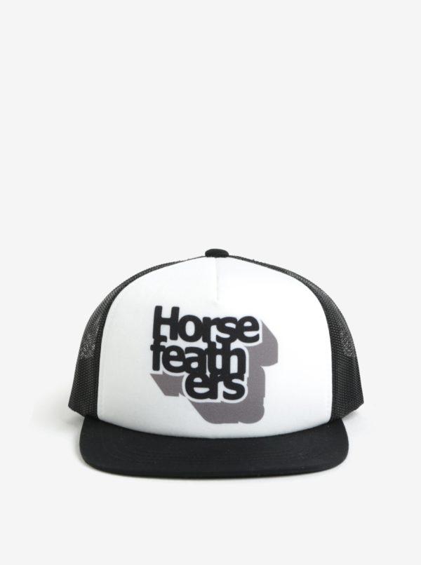Bielo-čierna chlapčenská šiltovka Horsefeathers Craps