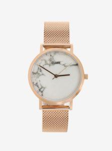 Dámske hodinky v ružovozlatej farbe CLUSE