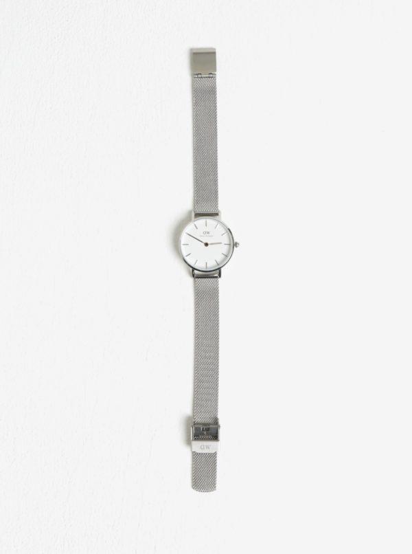 Dámske hodinky v striebornej farbe Daniel Wellington