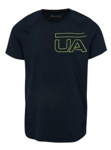 Tmavomodré pánske funkčné tričko s potlačou Under Armour MK1