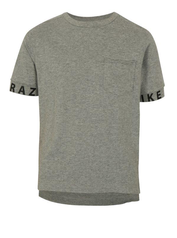 Sivé melírované chlapčenské tričko LIMITED by name it Robert