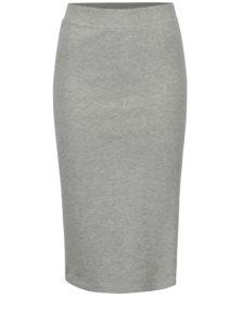 Svetlosivá melírovaná puzdrová sukňa s pruhmi Jacqueline de Yong Celinda