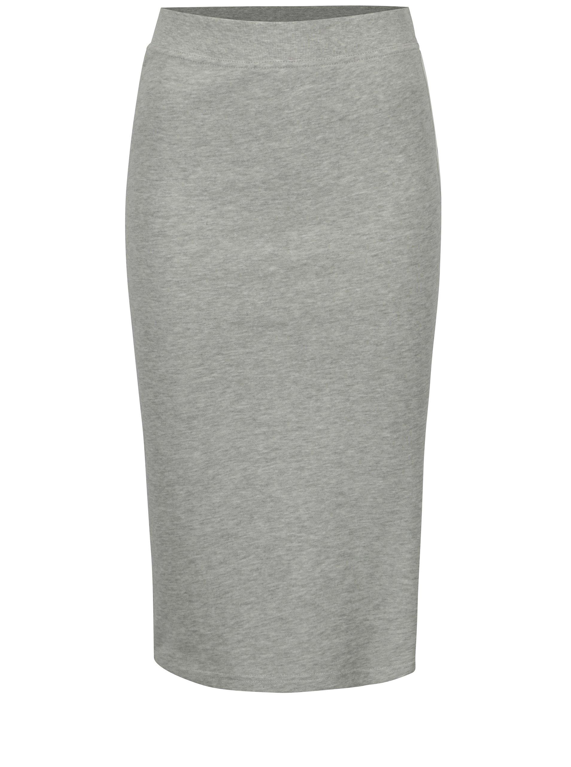 a136b231859c Svetlosivá melírovaná puzdrová sukňa s pruhmi Jacqueline de Yong Celinda
