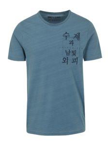 Modré tričko s potlačou ONLY & SONS Steven