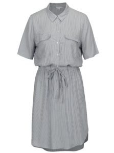 Bielo-modré pruhované košeľové šaty Jacqueline de Yong Beach